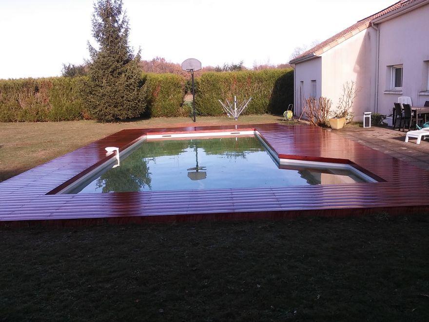 Realisations De Terrasse En Bois Sur Mesure Pour Piscine
