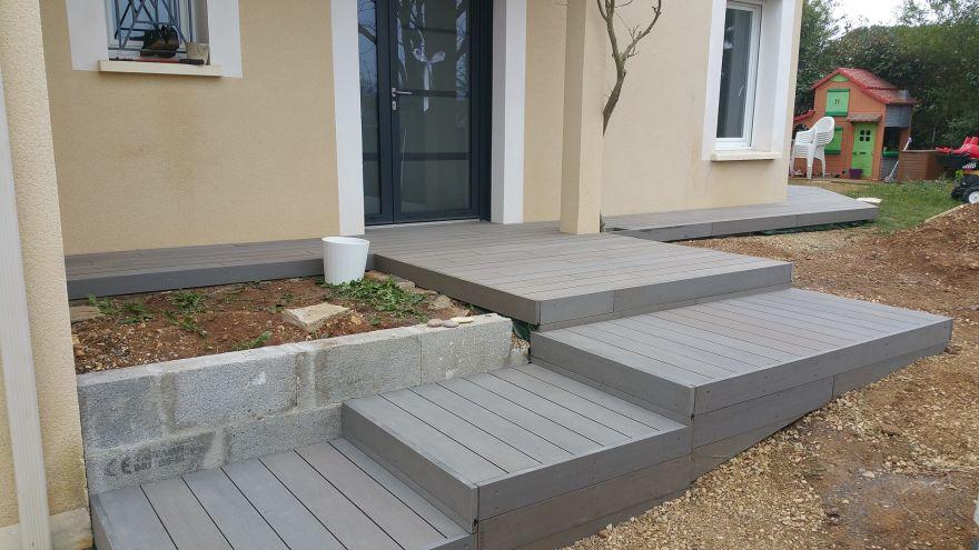 r alisation de terrasse sur mesure en composite par terrasse tendance bois. Black Bedroom Furniture Sets. Home Design Ideas