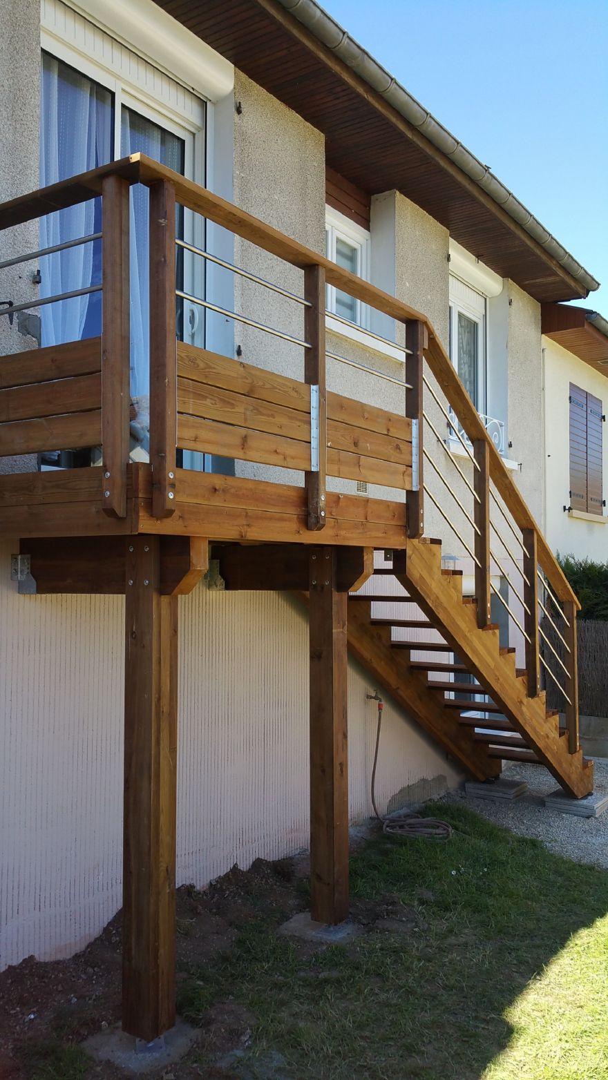Conception De Terrasse En Bois En Hauteur Adapte A Votre Maison Ou