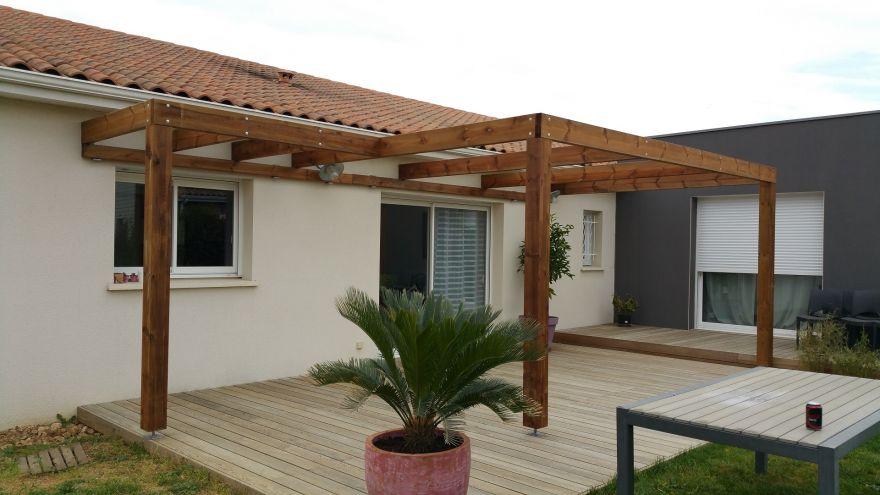 r alisation de terrasses en pin rouge du nord par terrasse tendance bois. Black Bedroom Furniture Sets. Home Design Ideas